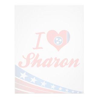 I Love Sharon, Tennessee Customized Letterhead