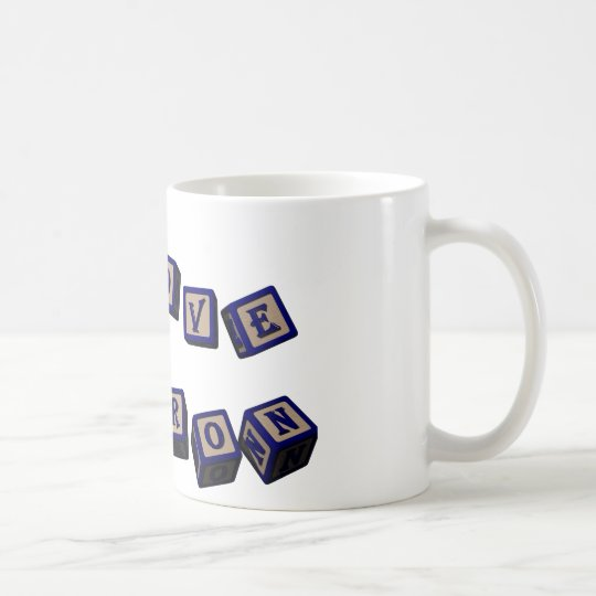 I love Sharon toy blocks in blue. Great gift for l Coffee Mug
