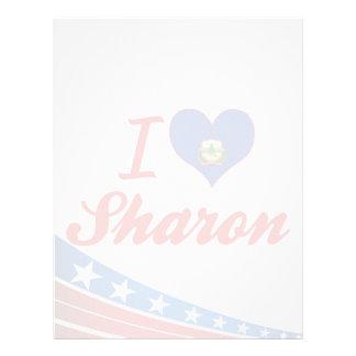 I Love Sharon, Vermont Letterhead Template