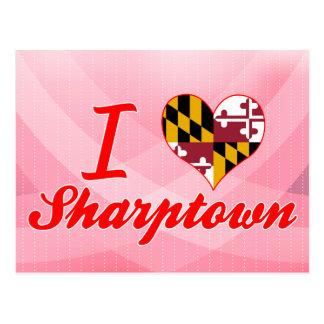 I Love Sharptown, Maryland Postcard