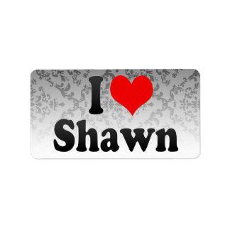I love Shawn Address Label
