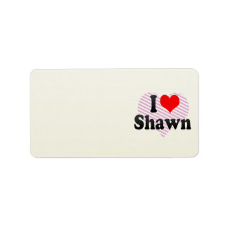 I love Shawn Personalized Address Labels