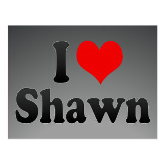 I love Shawn Post Card