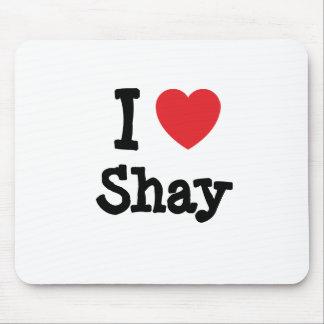 I love Shay heart T-Shirt Mouse Pad