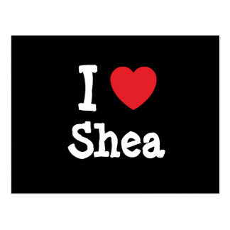 I love Shea heart T-Shirt Post Card