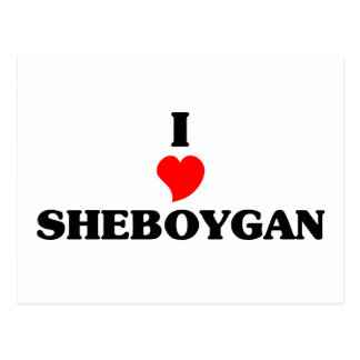 I love Sheboygan Postcard