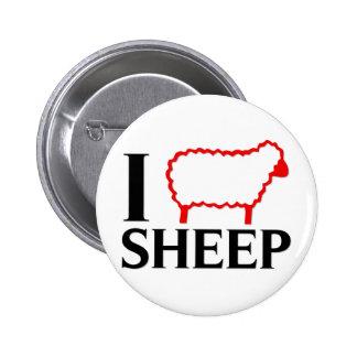 I Love Sheep Pins