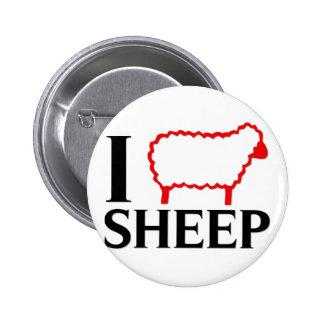I Love Sheep Button