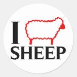 I Love Sheep Classic Round Sticker