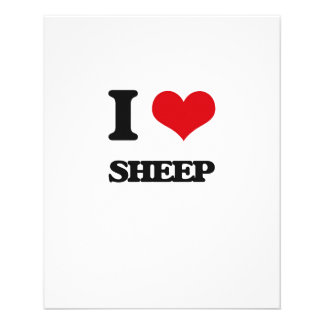 I love Sheep Full Color Flyer