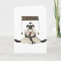 I Love Sheep Greeting Cards