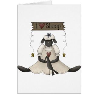 I Love Sheep Greeting Cards