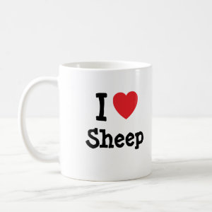 I love Sheep heart custom personalized mug