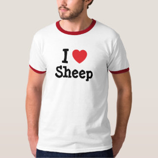 I love Sheep heart custom personalized T-shirt