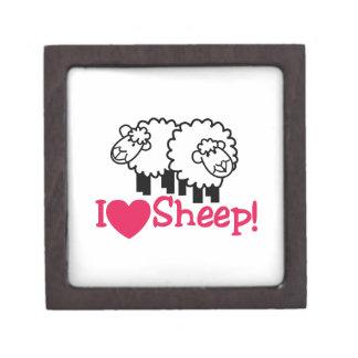 I Love Sheep Keepsake Box