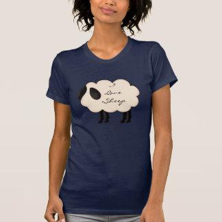 I Love Sheep Ladies Dark T-Shirt