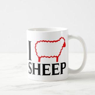 I Love Sheep Coffee Mugs