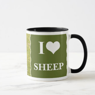 I Love Sheep mug, featuring 2 cute lambs Mug