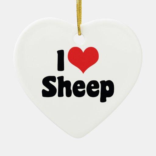 I Love Sheep Ornament