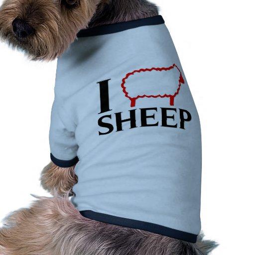 I Love Sheep Pet Tee Shirt
