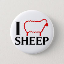 I Love Sheep Pinback Button