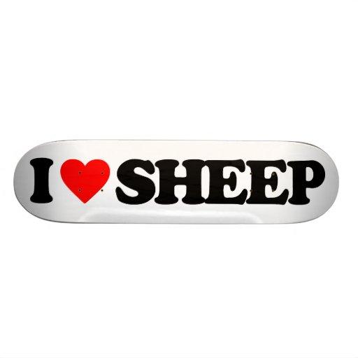 I LOVE SHEEP SKATEBOARD