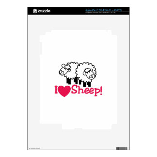 I Love Sheep Skins For iPad 3
