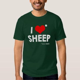 I Love * Sheep T Shirt