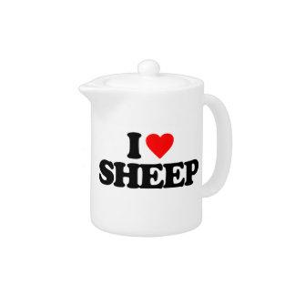 I LOVE SHEEP TEAPOT