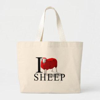 I Love Sheep Tote Bags