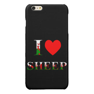 I Love Sheep (Welsh) iPhone 6/S PLUS (any colour) Glossy iPhone 6 Plus Case