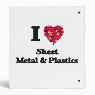 I Love Sheet Metal & Plastics 3 Ring Binders