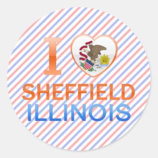 I Love Sheffield, IL Classic Round Sticker