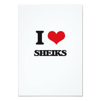 I Love Sheiks 3.5x5 Paper Invitation Card
