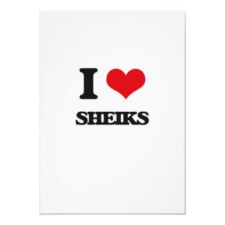 I Love Sheiks 5x7 Paper Invitation Card