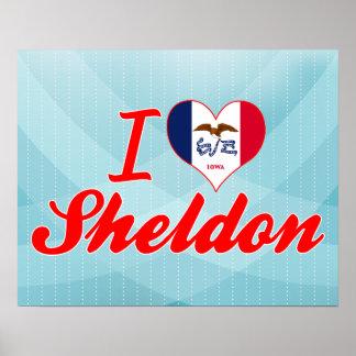 I Love Sheldon, Iowa Print