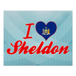 I Love Sheldon, New York Posters