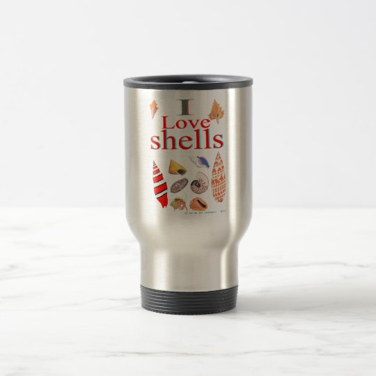 I Love Shells Travel Mug
