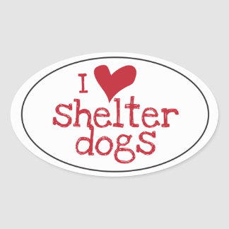 I Love Shelter Dogs Sticker