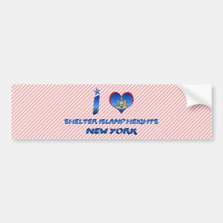 I love Shelter Island Heights, New York Car Bumper Sticker
