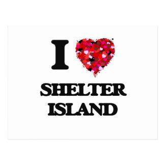 I love Shelter Island New Jersey Postcard