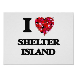 I love Shelter Island New Jersey Poster