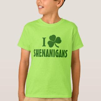 I Love Shenanigans Kids St. Patrick's Day T-Shirt