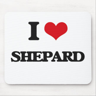 I Love Shepard Mouse Pad