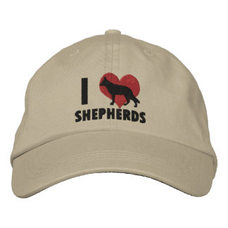 I Love Shepherds Embroidered Hat