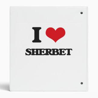 I Love Sherbet 3 Ring Binders