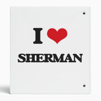 I Love Sherman Vinyl Binder