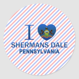I Love Shermans Dale, PA Round Stickers