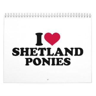 I love shetland ponies calendar