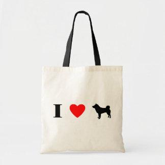 I Love Shiba Inus Budget Tote Bag
